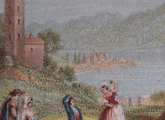 Lake Como - Mansell colour print close up