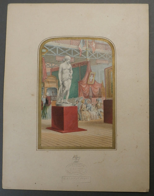 A Nymph by Wyatt - George baxter print - Gems of the Great Exhibition 1851