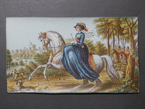 Queen Victoria - Her Majesty at Windsor - Le Blond - Baxter Print
