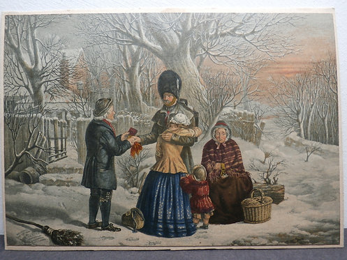 The Soldier's Farewell, The Parent's Gift - Baxter Print