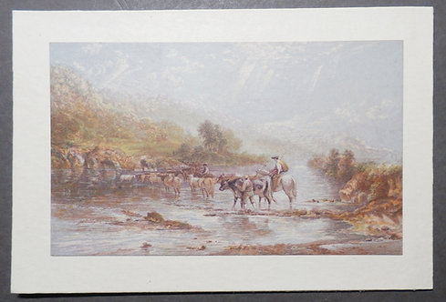 Welsh Drovers - Baxter Print - River Wye