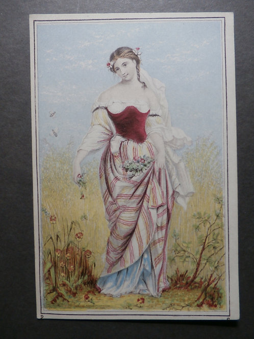 The Flower Maiden - le Blond print