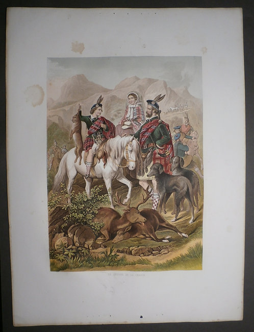 Kronheim – COMPLETE SHEET – Queen Victoria & Prince of Wales - Hunting