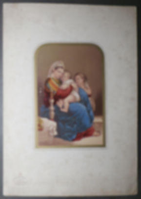 George Baxter -Holy Family - Rd Seal Mount - Brougham Lettering