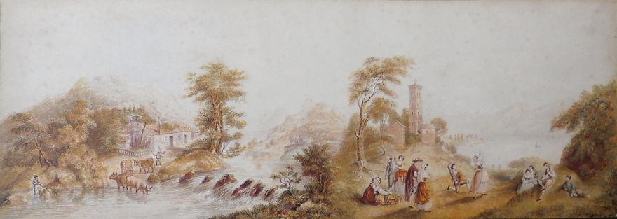 River Teify and Lake Como George Baxter Prints