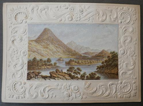 Ballinahinch Lake and Castle, Connemara - le Blond print