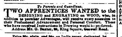 Baxter advert - Literary Gazette - May 1