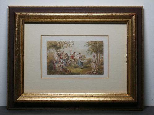 La Tarantella - George Baxter Print