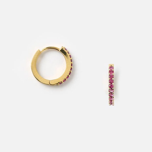 Orelia London Øredobber Mini Pave Huggie Hoops Gold
