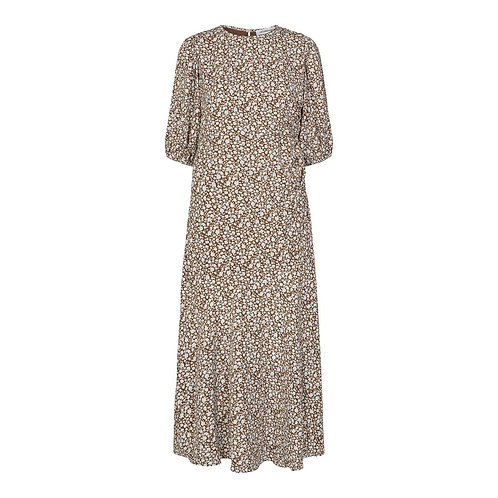Co´Couture Pythia Flower Dress Cognac
