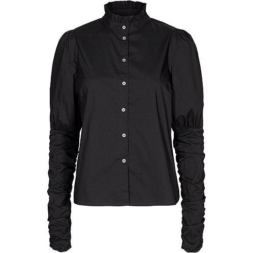 Co´Couture Sandy Poplin Puff Shirt Black
