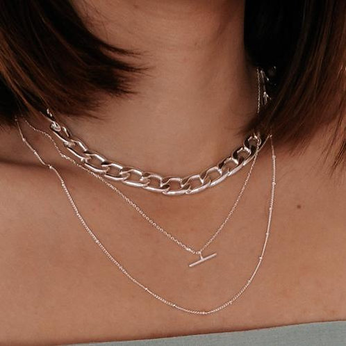 Orelia London Halskjede Satellite Chain Silver