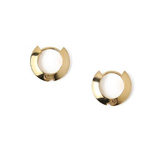 Orelia London Øredobber Clean Edge Huggie Hoops Gold