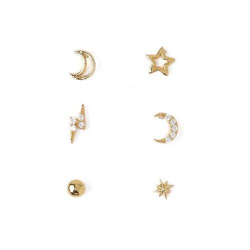 Orelia London Øredobber Celestial Ear Party Gold