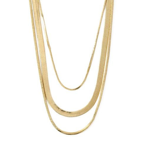 Orelia London Halskjede Snake Chain 3-Row