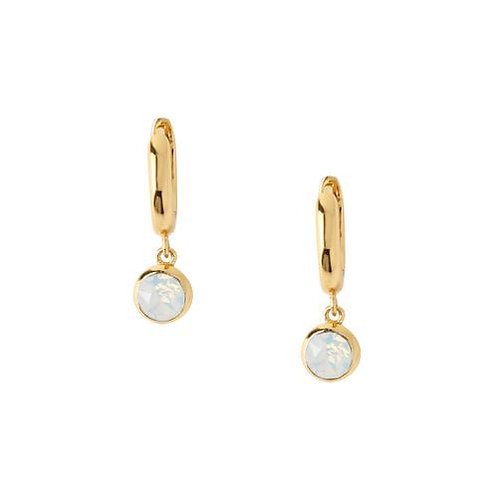Orelia London Øredobber Swarovski White Opal Drop Huggie Hoops