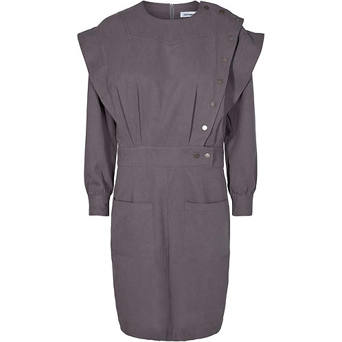Co´Couture Elle Fall Dress Dark Grey