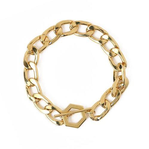 Orelia London Armbånd Chunky Hexagon T-bar