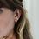Thumbnail: Orelia London Ruby Pave Single Ear Cuff Gold