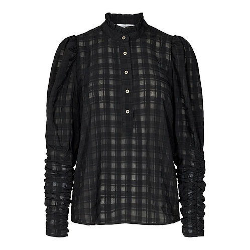 Co´Couture Rowland Puff Sleeve Shirt Black