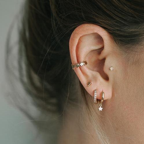Orelia London Multi Star Ear Cuff Gold