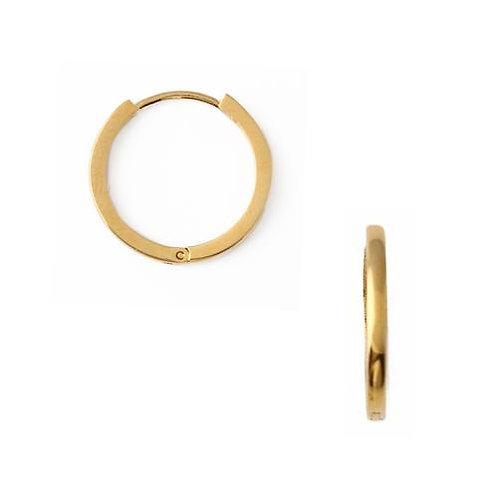 Orelia London Øredobber Clean Metal Mid-Sized Hoops Gold