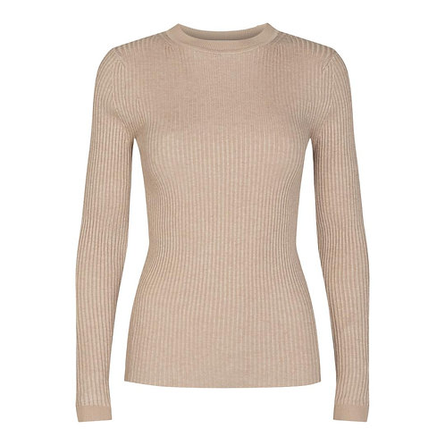 Co´Couture Rib O Knit Beige