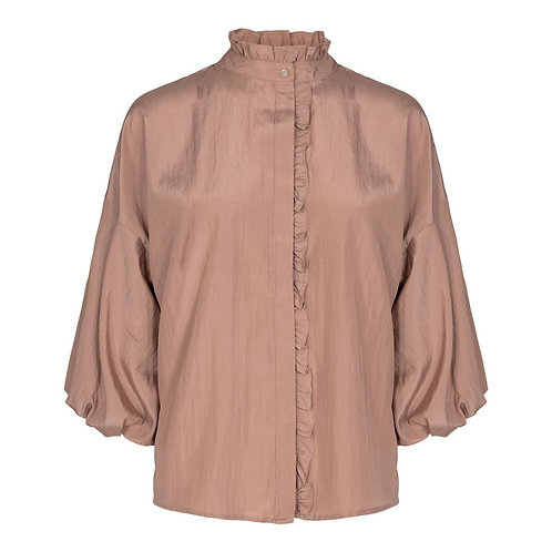 Co´Couture Keeva Frill Shirt Nude Rose