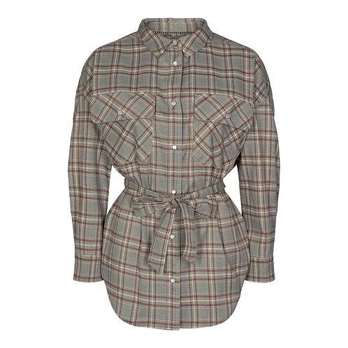 Co´Couture Sondra Maxine Check shirt Cognac