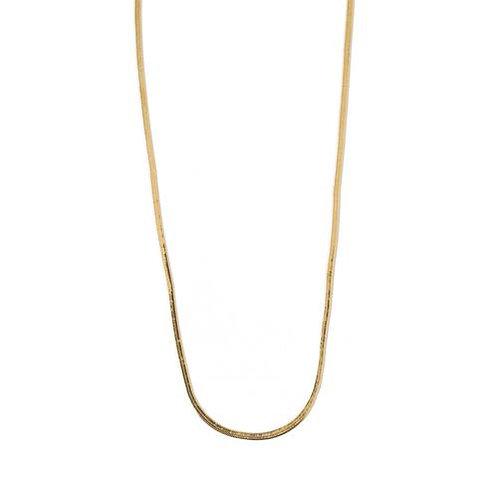 Orelia London Halskjede Flat Snake Chain Gold