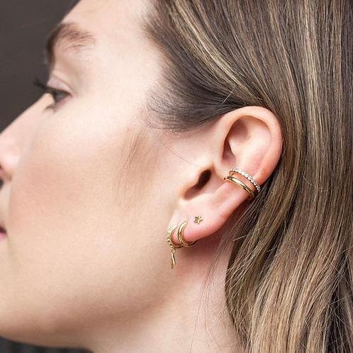Orelia London Øredobber Star & Lightening Ear Party Gold