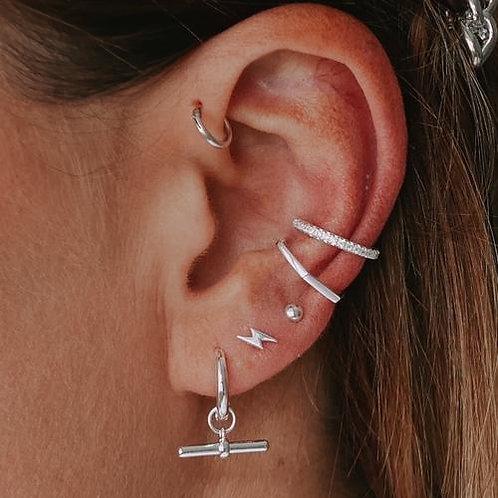 Orelia London Fine Pave Ear Cuff Silver