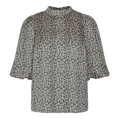 Co´Couture Fox Flower Blouse Green
