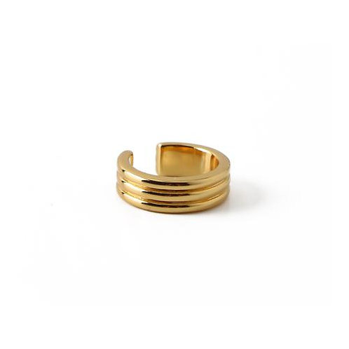 Orelia London Linear Single Ear Cuff Gold