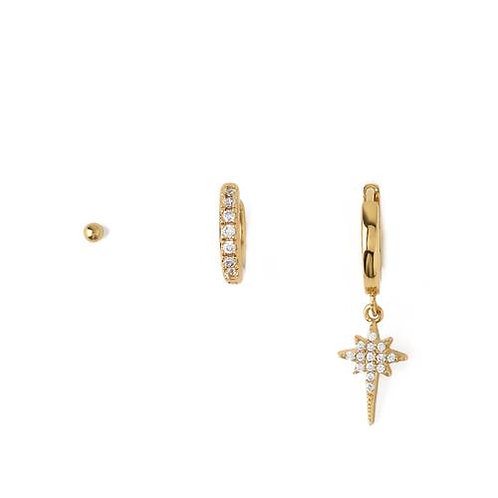 Orelia London Øredobber Crystal Starburst Ear Party Gold
