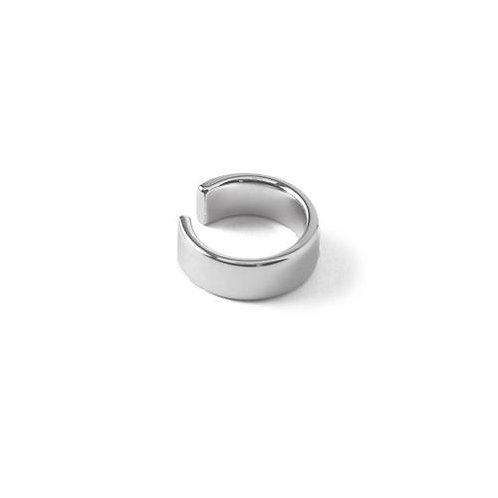Orelia London Chunky Plain Ear Cuff Silver