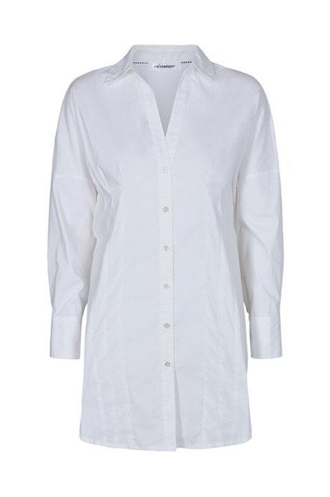 Co´Couture Moulin Pleat Poplin Shirt White
