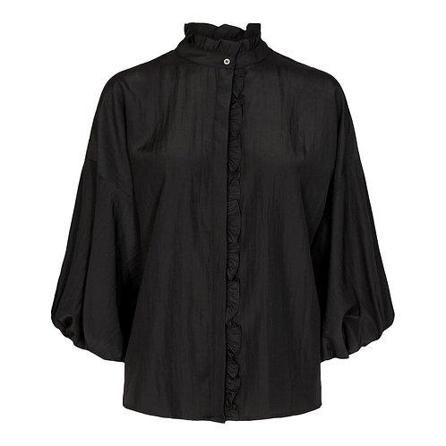 Keiva Frill Shirt Black
