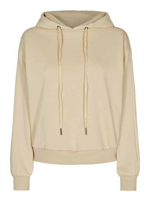 Co´Couture Solid Chop Hoodie Bone