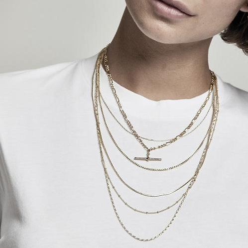Orelia London Halskjede Chunky  T-bar Figaro Chain