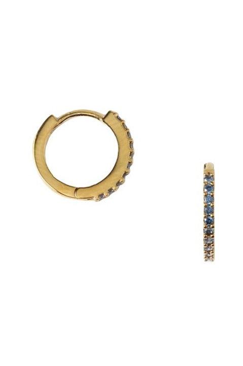 Orelia London Øredobber Mini Pave Huggie Hoop Gold