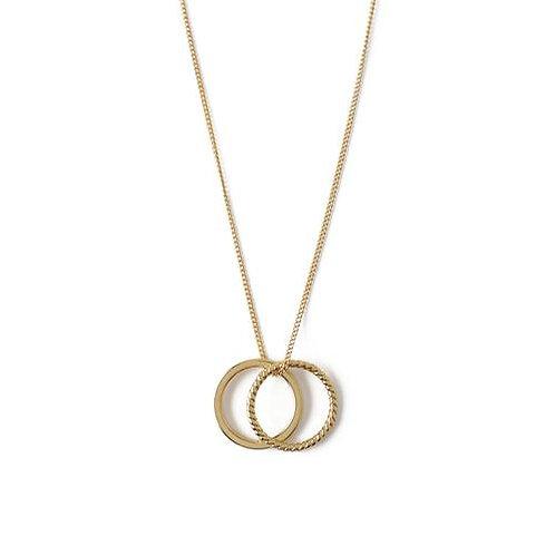Orelia London Halskjede Rope Double Ring