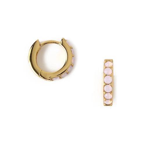 Orelia London Øredobber Swarovski Rose Water Opal Huggie Hoops