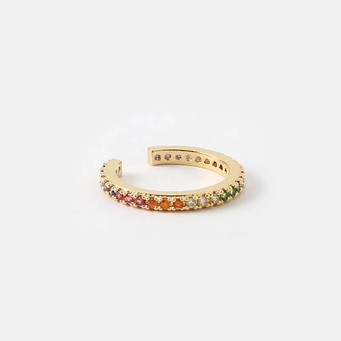 Orelia London Rainbow Ear Cuff Gold