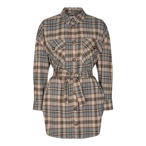 Co´Couture New Lulu Check Shirt Walnut