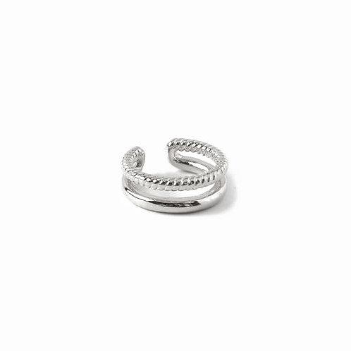 Orelia London Double Ear Cuff  Silver