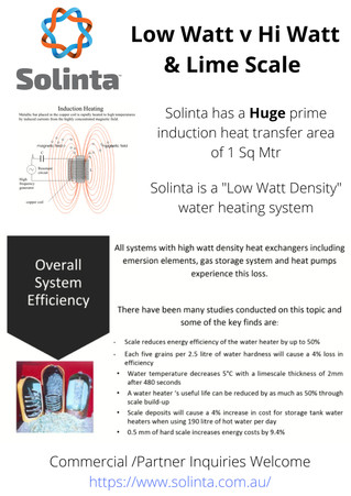 Solinta utilises Low Watt Density water heating > here`s why !