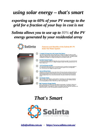 Get the maximum value from your PV array with Solinta