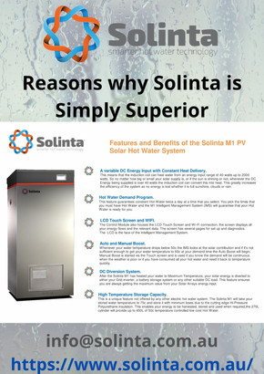 Solinta is setting new benchmarks for hot water system design & efficiency !