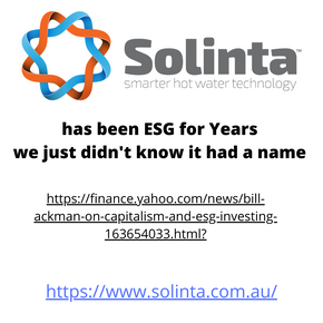 ESG is in our DNA .....